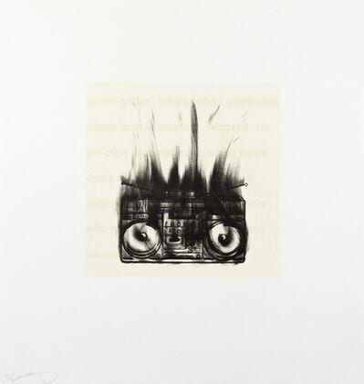 Gary Simmons, 'Flaming Boom Box', 2005