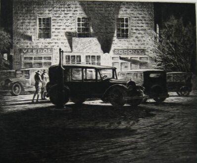 """Martin Lewis, '""""Shadows, Garage at Night""""', 1928"""