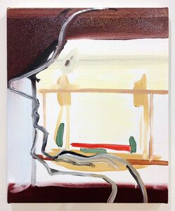 Heather Guertin, 'Hand Under Chin (Outdoor Seating)', 2014