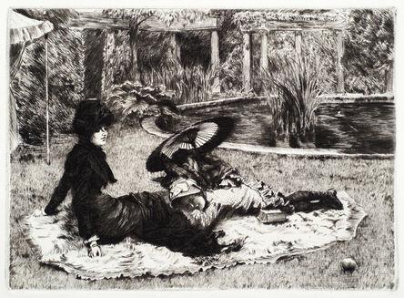 James Jacques-Joseph Tissot, 'On the Grass', 1880