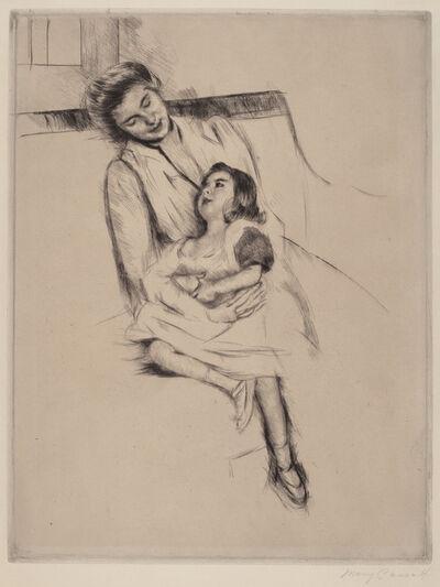 Mary Cassatt, 'Reine and Margot Seated on a Sofa (No. 2)', ca. 1902