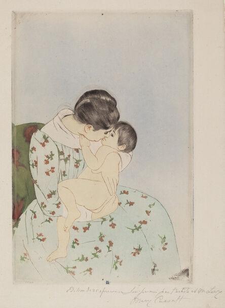 Mary Cassatt, 'Mother's Kiss', 1890-1891