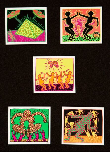 Keith Haring, 'Untitled, from The Fertility Suite (five works)', 1983