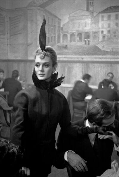 Frank Horvat, 'Harper's Bazaar, Rome Collections O (Debora Dixon in Trattoria)', 1962