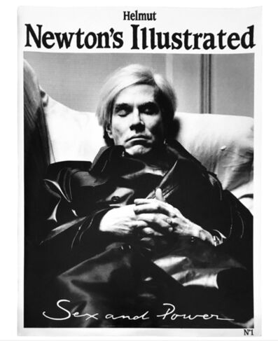 Helmut Newton, 'Helmut Newton's Illustrated No. 1, Sex and Power featuring Andy Warhol', 1987