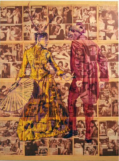John Valadez, 'Tango Muerte', 2018
