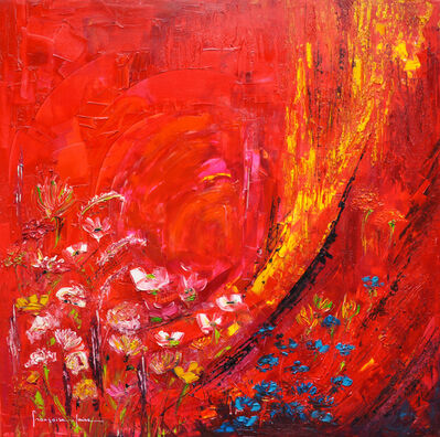 Francoise Laine, 'Red flowers', 2019