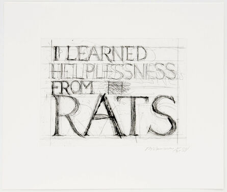 Bruce Nauman, 'I Learned Helplessness From Rats', 1988