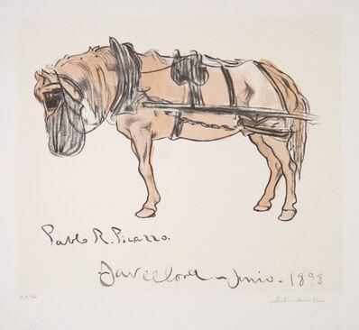 Pablo Picasso, 'Cheval Attele', 1973-original created in 1898