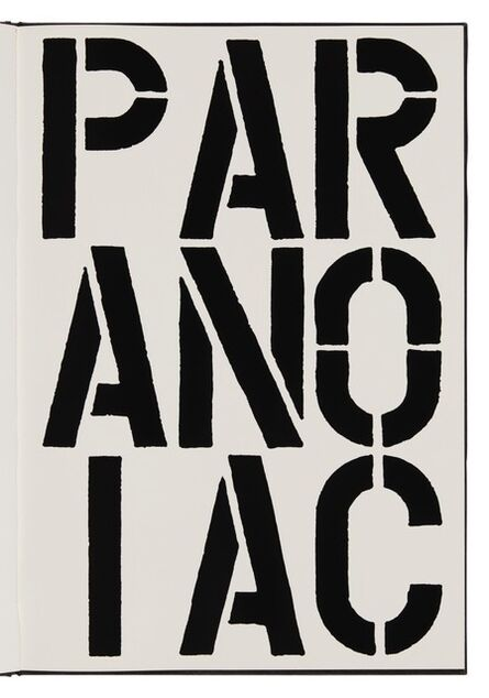 Christopher Wool, 'Paranoiac (page from Black Book) ', 1989
