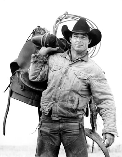 Laura Wilson, 'Donny Baize, Cowboy, J.R. Green Cattle Company Shackelford County, Texas, March 18, 1997'
