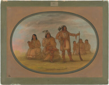 George Catlin, 'Osceola and Four Seminolee Indians', 1861/1869