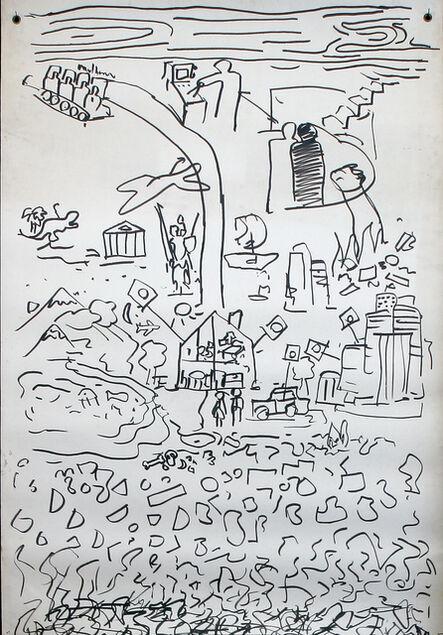 Matt Mullican, 'Untitled (Early Cosmology Chart),', 1980