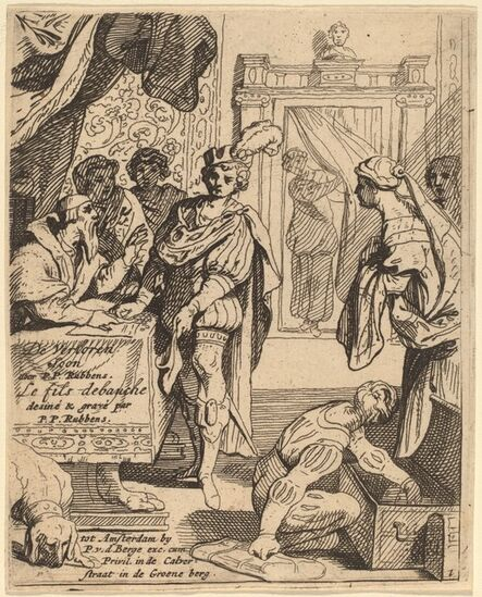 Theodoor van Thulden after Sir Peter Paul Rubens, 'The Prodigal Son Receiving His Patrimony'