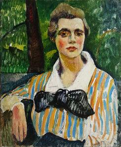 Leon Kroll, 'Fauve Portait of a Woman', 1915