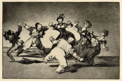 Francisco de Goya, 'Figures Dancing in a circle from Los Disparates', 1816-1823