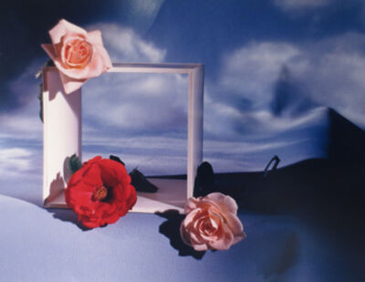 Horst P. Horst, 'Roses with Square and Clouds'