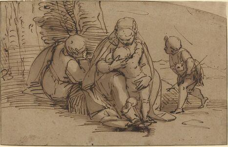 Luca Cambiaso, 'Holy Family with Infant Saint John'