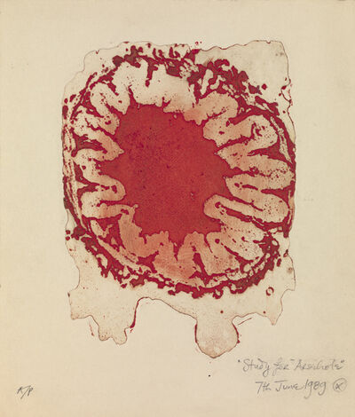 Helen Chadwick, 'Study for Arsehole (red)', 1989