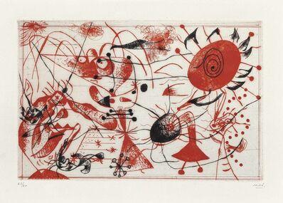 Joan Miró, 'Serie Noire et Rouge: one plate', 1938