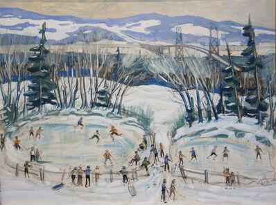 Jean Paul Lemieux, 'Iceskaters on Montmorency', 1939
