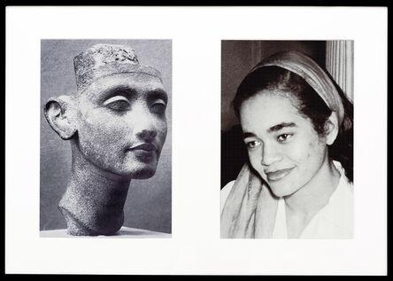Lorraine O'Grady, 'Miscegenated Family Album (Young Queens), L: Nefertiti, age 24; R: Devonia, age 24', 1980/1994