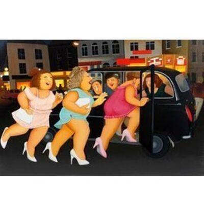 Beryl Cook, 'Girls in a Taxi', 2009