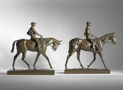 Emmanuel Fremiet, 'Two Racehorse and Jockeys', ca. 1885