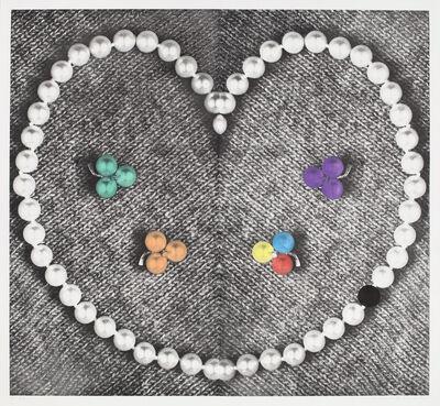 John Baldessari, 'Heart (with Pearls)', 1990-1991