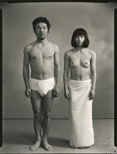 Masahisa Fukase, 'From the left: Masahisa and actor K', 1972