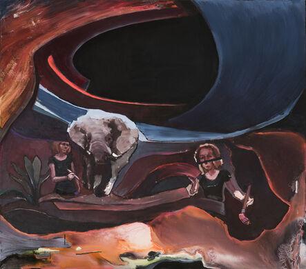 Aukse Miliukaite, 'Eastworld (what's hiding under the painting)', 2018