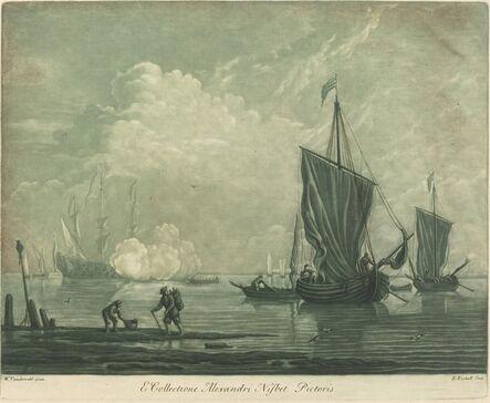 Elisha Kirkall after Willem van de Velde the Elder, 'Shipping Scene from the Collection of Alexander Nisbit', 1720s