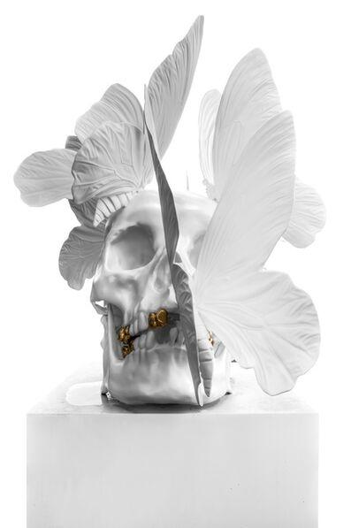 Philippe Pasqua, 'White Skull with Butterflies', 2014