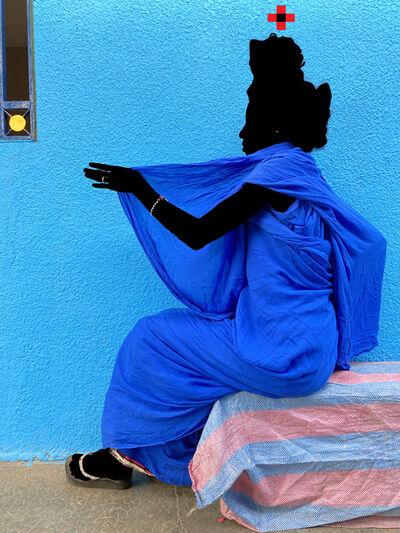 Saidou Dicko, 'The blue girl', 2021