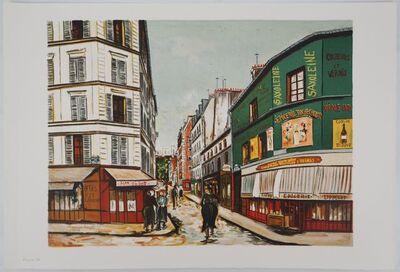 Maurice Utrillo, 'Rue Seveste à Montmartre', 1980-1989