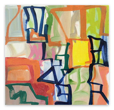 Melissa Meyer, 'Capital R (Abstract Expressionism painting)', 2016