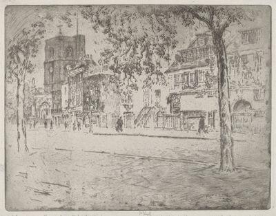 Joseph Pennell, 'House Where Whistler Died', 1904