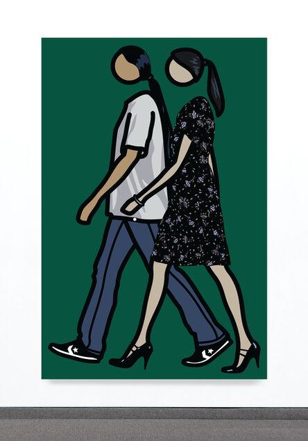 Julian Opie, 'Kris and Verity Walking 2', 2010