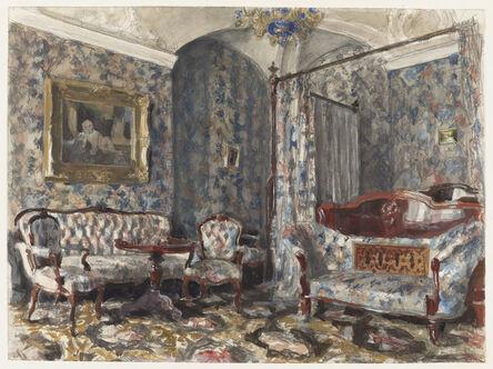 Alexander Benois, 'The Bedroom of Czarina Maria Alexandrovna, Gatchina Palace, St. Petersburg', 1920s