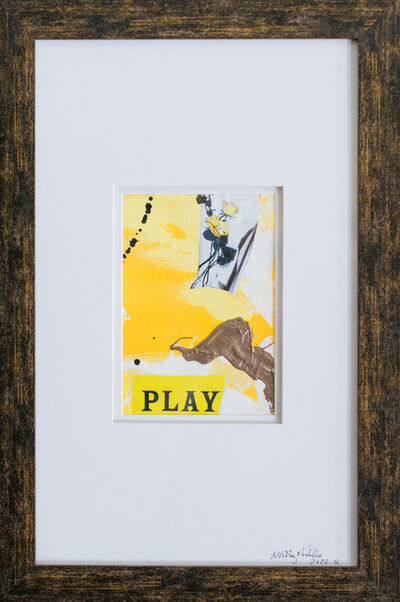 Whitney Pintello, 'She Likes Yellow No. 1- Gestural Abstract Mixed Media Yellow Painting', 2020