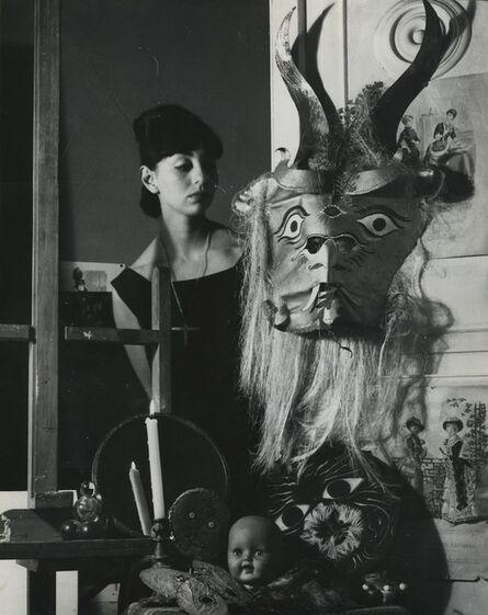 Kati Horna, 'Woman and mask, City of Mexico', 1963