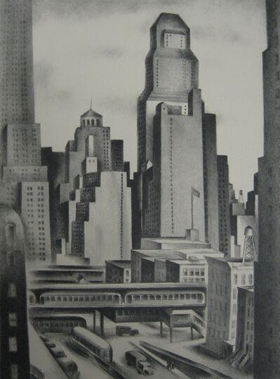 Albert Heckman, 'View from Tudor City', 1933