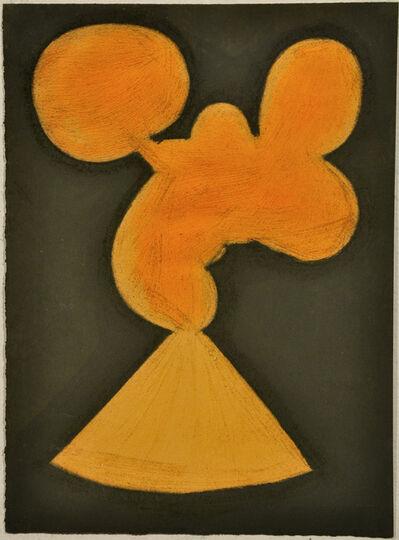 Julian Martin, 'Untitled (Abstracted Orange Shape and Khaki)', 2010
