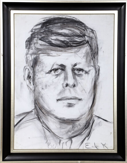 Elaine de Kooning, 'John F. Kennedy #11', 1980