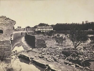Édouard Baldus, 'Ramparts Destroyed by the Flood, Avignon, France', 1856