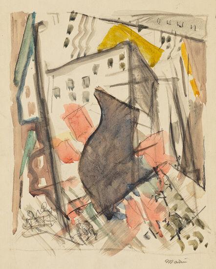 John Marin (1870-1953), 'Downtown, New York', ca. 1925