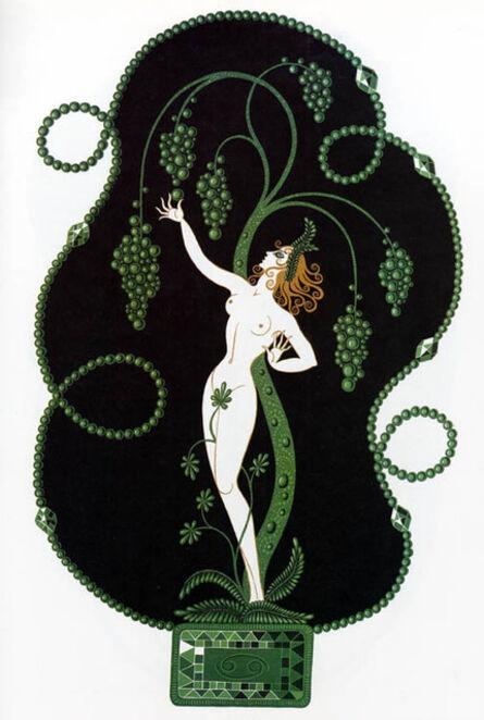 Erté (Romain de Tirtoff), 'Emerald (The Precious Stones)', 1969