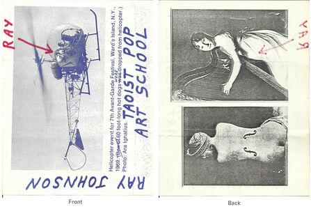 Ray Johnson, 'Mail Art + Ephemera, Dear Raphael Rubinstein at Art In America (Taoist Pop Art School, Helicopter)', ca. 1995