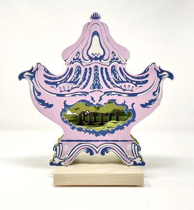 Janice Jakielski, 'Potpurri Jar with Idyllic Landscape', 2500