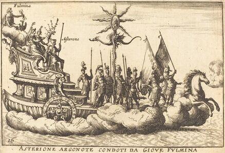 Balthasar Moncornet after Remigio Cantagallina, 'Asterione Argonote condoti da Giove Fulmina'